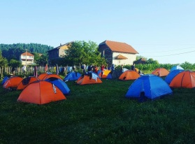 Camp site for marchers