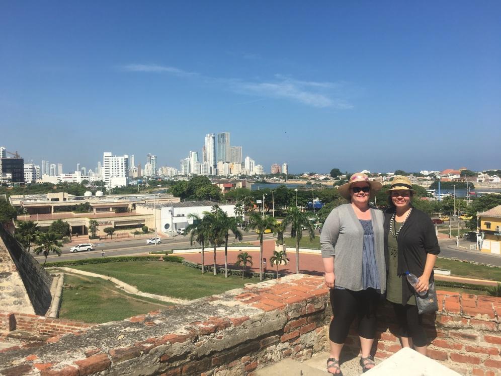Menchhofer and Kearl at the Castillo San Felipe de Barajas