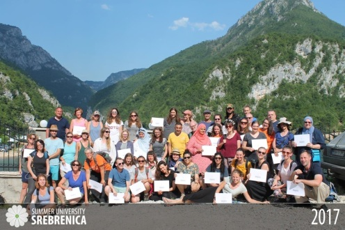 Group photo of all the students of the Summer University Srebrenica program