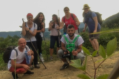 The core group Menchhofer hiked with