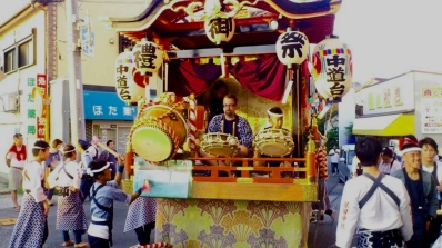 Curt Playing in the Taiko Kyonan Festival