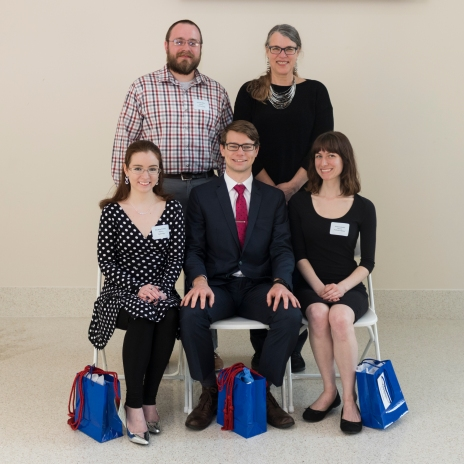 The Department of History gave Miller (top left) the Promising Scholar Award at the 2018 Honors Banquet.