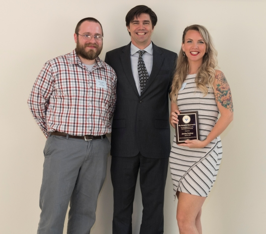 At the same event, the Department of Anthropology gave Miller (left) the Franz Boaz Award and Paul Jean Provost Scholarship.