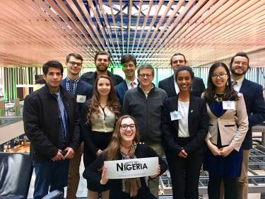 Helena with her model UN team