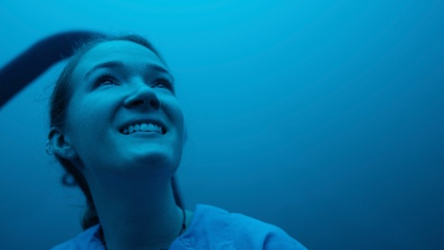 Callie during Cocos Island Conservation Scholarship / shark and turtle tagging expedition to Cocos Island, Costa Rica. All photos by Jon Betz.